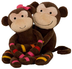 noah plush monkeys momo mimi laying