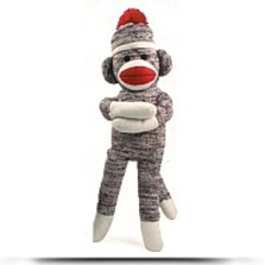 19 Inch Brown Sock Monkey