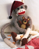 janlynn peejay sock monkey moneky includes