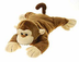 fiesta peek-a-boo plush monkey pillow unzips