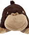 pillow silly monkey brown -large -super-soft