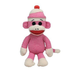 beanie buddies socks monkey pink buddy