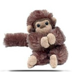 Baby Clyde Brown Spider Monkey 6 Plush