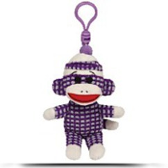 Beanie Babies Purple Quilted Sock Monkey