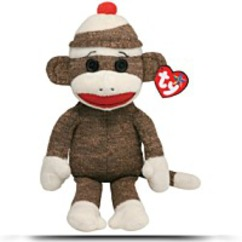 Beanie Buddies Socks Monkey