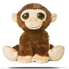 Plush 10 Inches Dreamy Eyes Monkey Inches