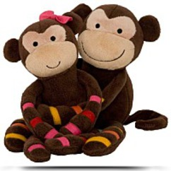S S Noah Plush Monkeys