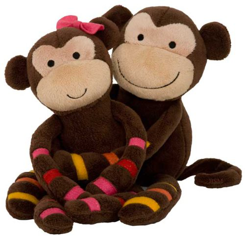 S. S. Noah Plush Monkeys - Momo And Mimi